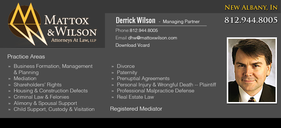 Derrick Wilson New Albany Business Lawyer